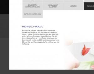 Olympus TG-3 Mikroskop-Modus